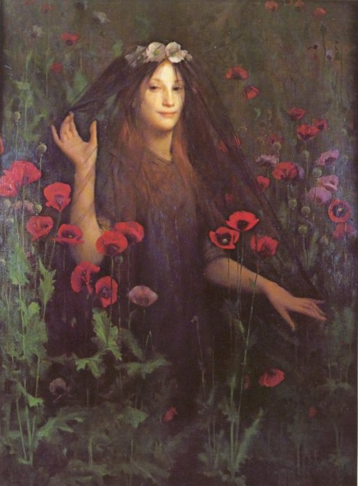 Thomas Cooper Gotch, Death the Bride, 1895