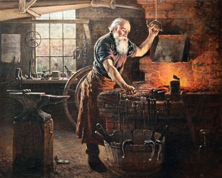 Charles Grant Beauregard, A blacksmith at Work, 19th Century