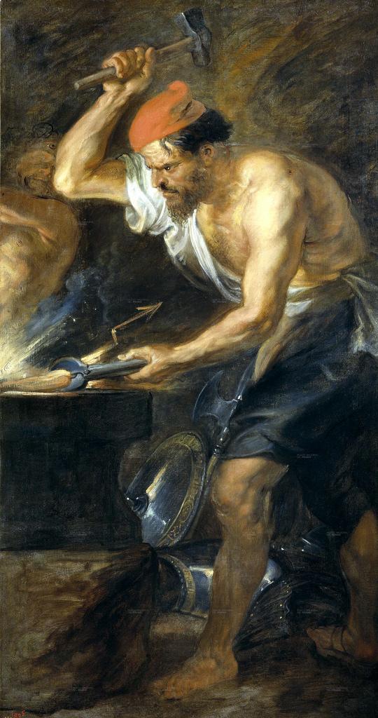 Rubens, Vulcano forjando los rayos de Júpiter,  1636-38 (Museo Nacional del Prado, Madrid)