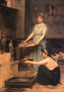 John William Waterhouse The Household Gods 1880