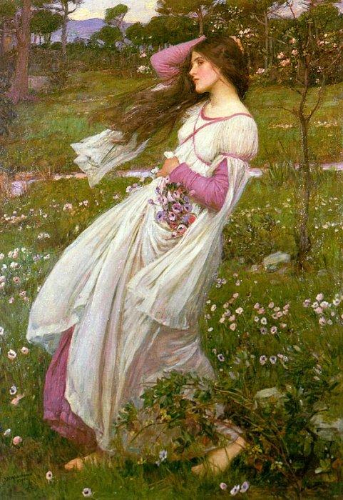 John William Waterhouse, Windflowers, 1903