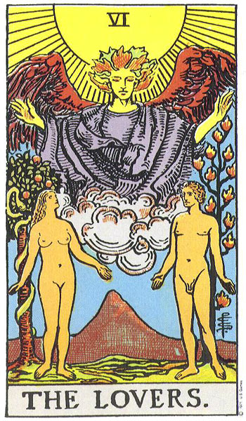 The Lovers, Rider-Waite Tarot Deck