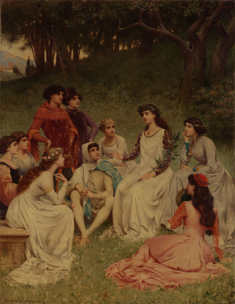Jacques-Clement Wagrez, The Storyteller, 1890