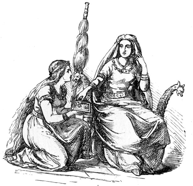 Ludwig Pietsch Frigg and Handmaiden, 1865