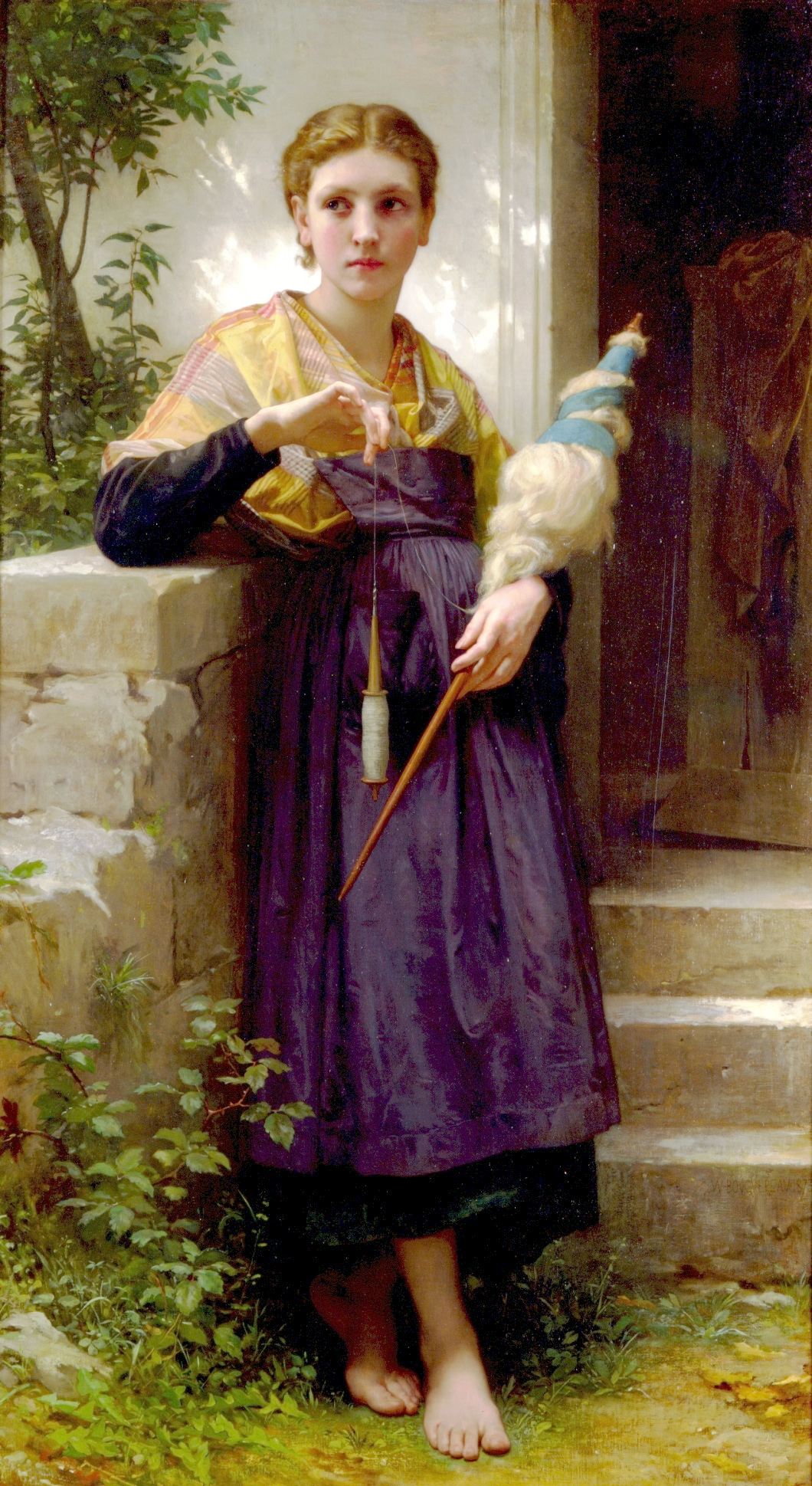 William Adolphe Bouguereau , La Fileuse, 1873