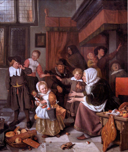 Jan Steen, Het Sint Nicolaasfeest (The Feast of St. Nicholas). Amsterdam, 1665-1668