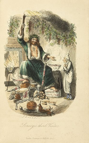 John Leech, Scrooges Third Visitor, 1843