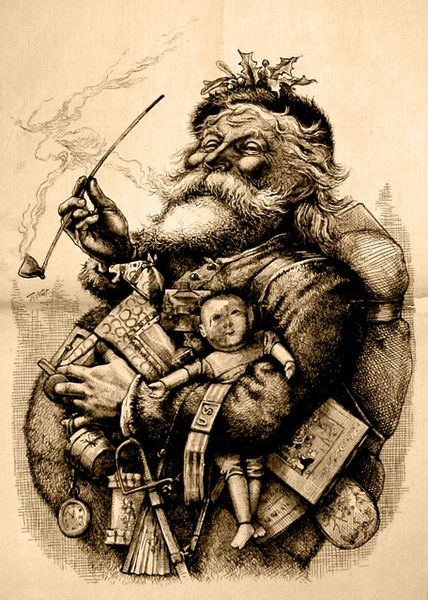 Thomas Nast, Merry Old Santa Claus, Harpers Weekly, 1881