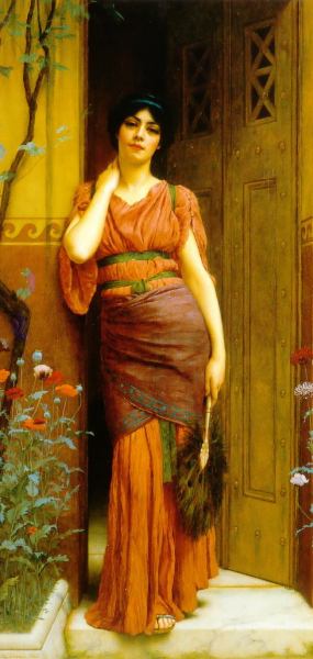John William Godward At the Garden Door 1901