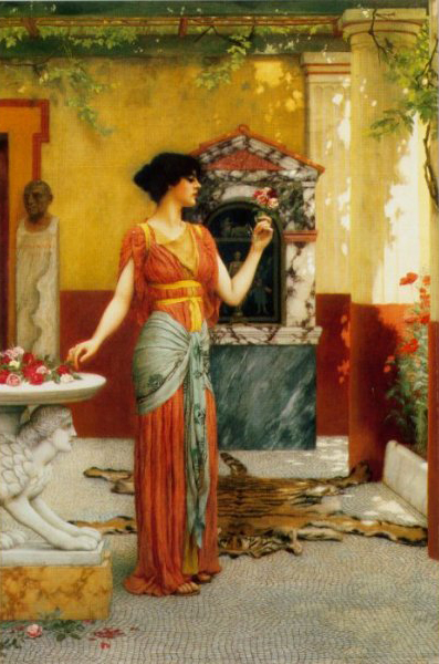 John William Godward The Bouquet 1899