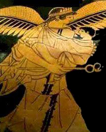 Kleophrades, Iris Nursing Hermes, 500-450 BCE