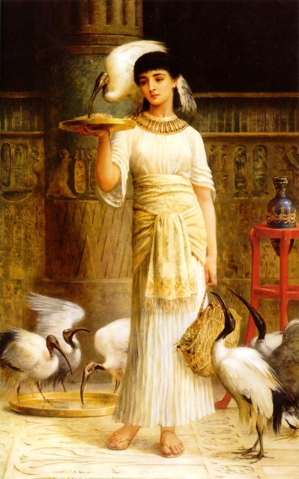 Edwin Longsden Long Ale the Attendant of the sacred Ibis in the Temple of Isis 19th Century