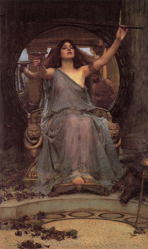 John William Waterhouse Circe Oferring the Cup to Ulysses 1891