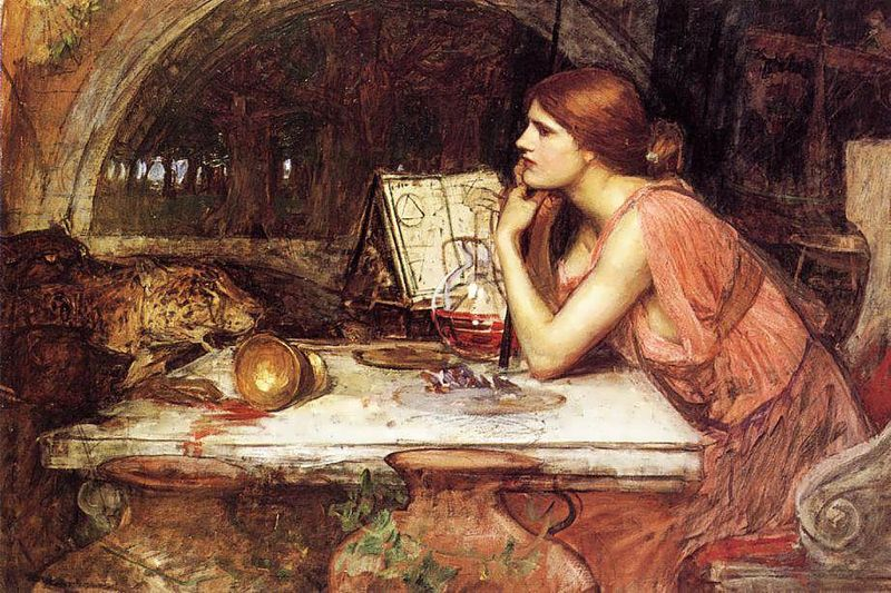 John William Waterhouse - Sketch of Circe 1911-1914