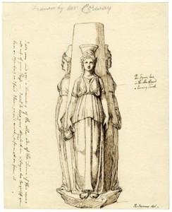 Marble statue of Hecate Trimorph British Museum 1768-1805