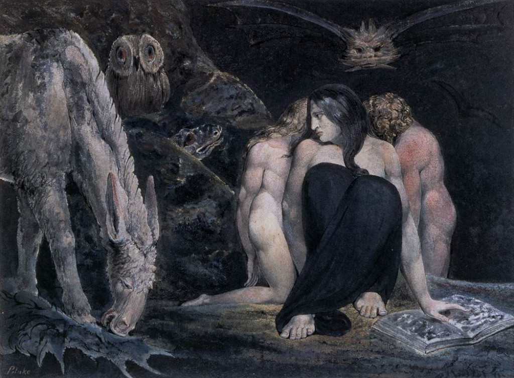 William Blake, Hecate of the Three Fates, 1795