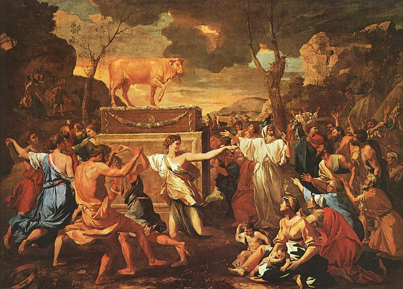 Nicolas Poussin The Adoration of the Golden Calf 1634