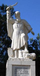 פסל אליהו השוחט את נביאי הבעל בכרמל, מוחרקה, הר הכרמל