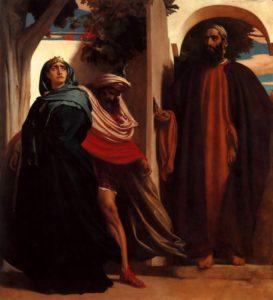 Frederic Leighton Jezebel and Ahab Met by Elijah 1862