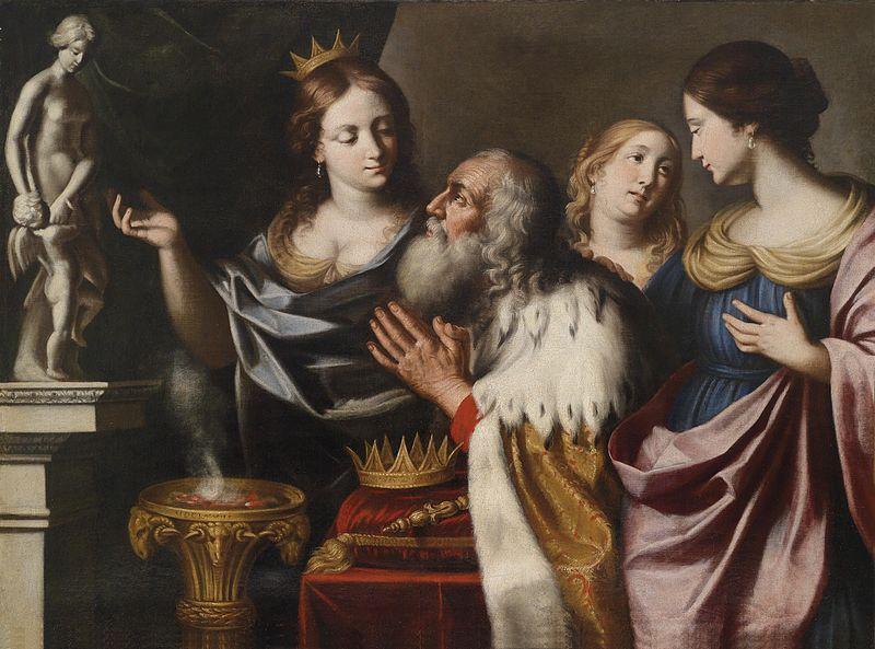 Giovanni Venanzi di Pesaro König Salomons Götzendienst 1668