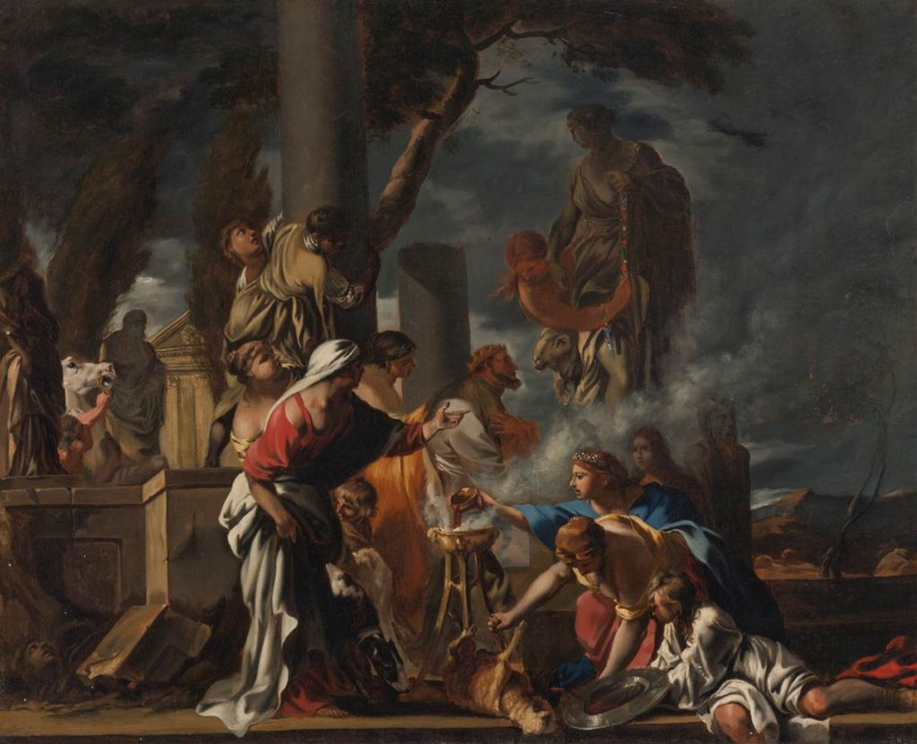 Sebastien Bourdon King Solomon Sacrificing to the Idols 1651